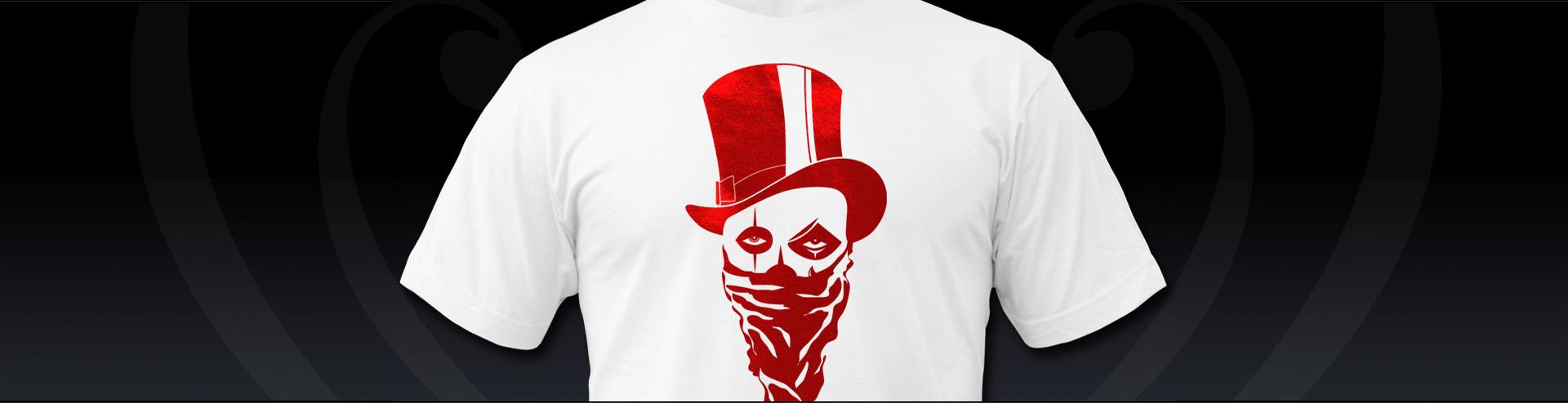 T-shirt Druck Stuttgart Totenkopf metallic